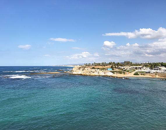 Caesarea: an old port built by the Romans