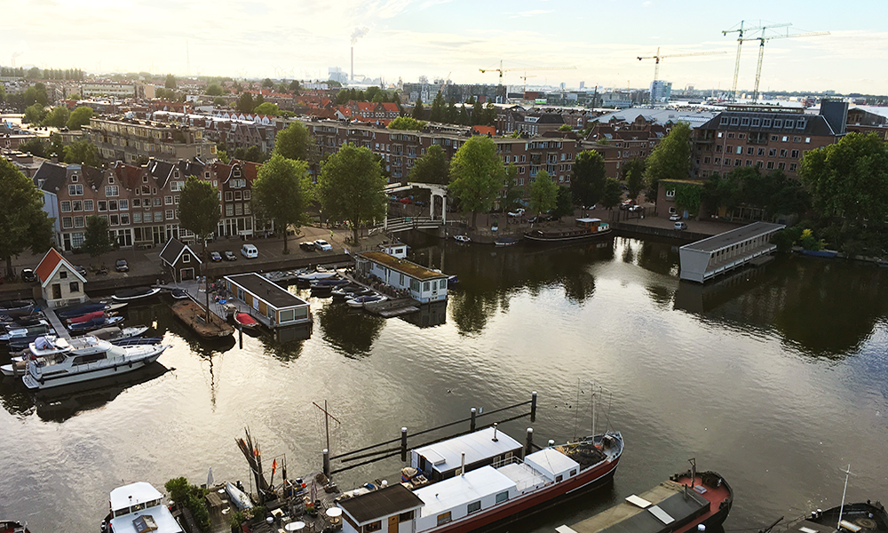 Amsterdam view from above
