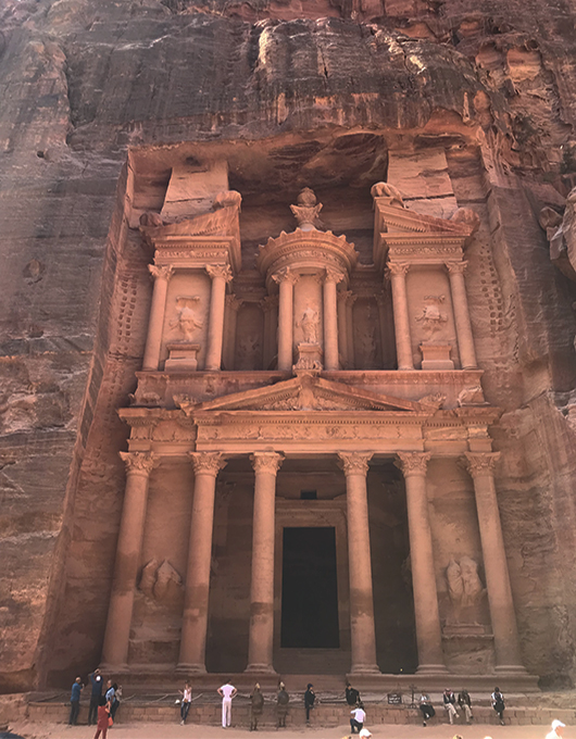 Al Khazneh ou The Treasury em Petra na Jordania
