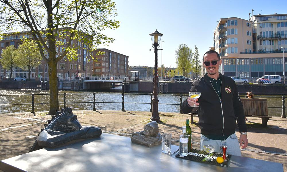 The Italian bartender, Ciro Adriano de Georgio, in Amsterdam