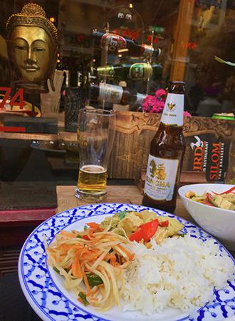 Green Curry no Restaurante Tailandês Bird em Amsterdam