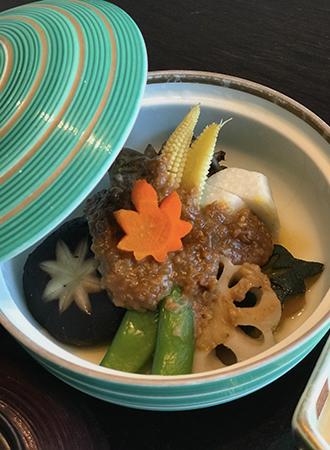 Café da manhã japonês servido no Hotel Okura em Bangkok