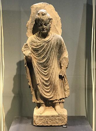 Estátua de Buda do século 3 estilo Gandhara em Amsterdam