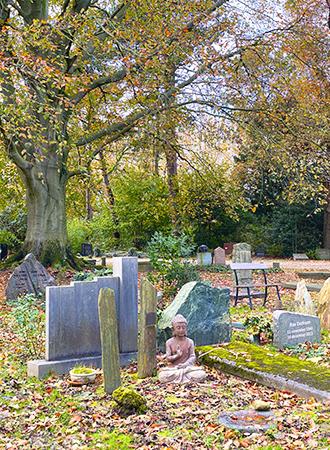 Buddhist grave cemetery in Amsterdam