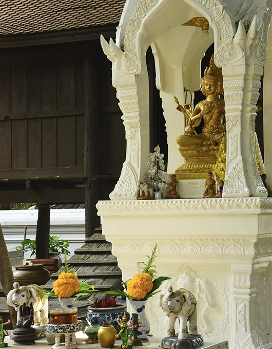 Spirit House in Ayutthaya in Thailand