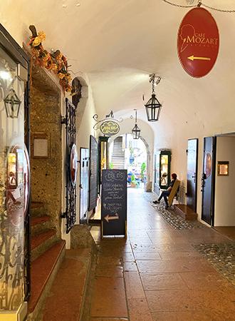 Galerias e lojas em Salzburgo na Áustria