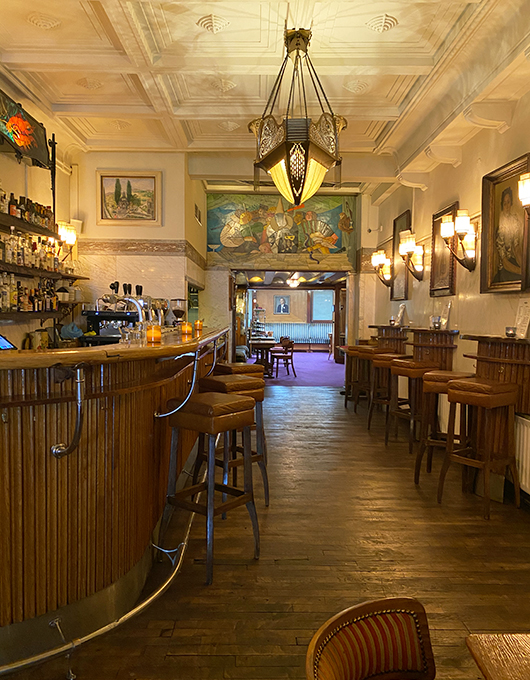 Art Deco interior of Cafe Schiller in Amsterdam