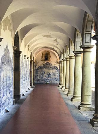 Arquitetura no interior do Convento de São Francisco em Salvador