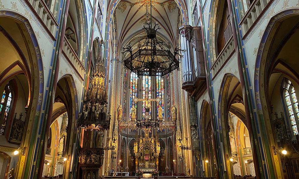Interior of the catholic church De Krijtberg in Amsterdam