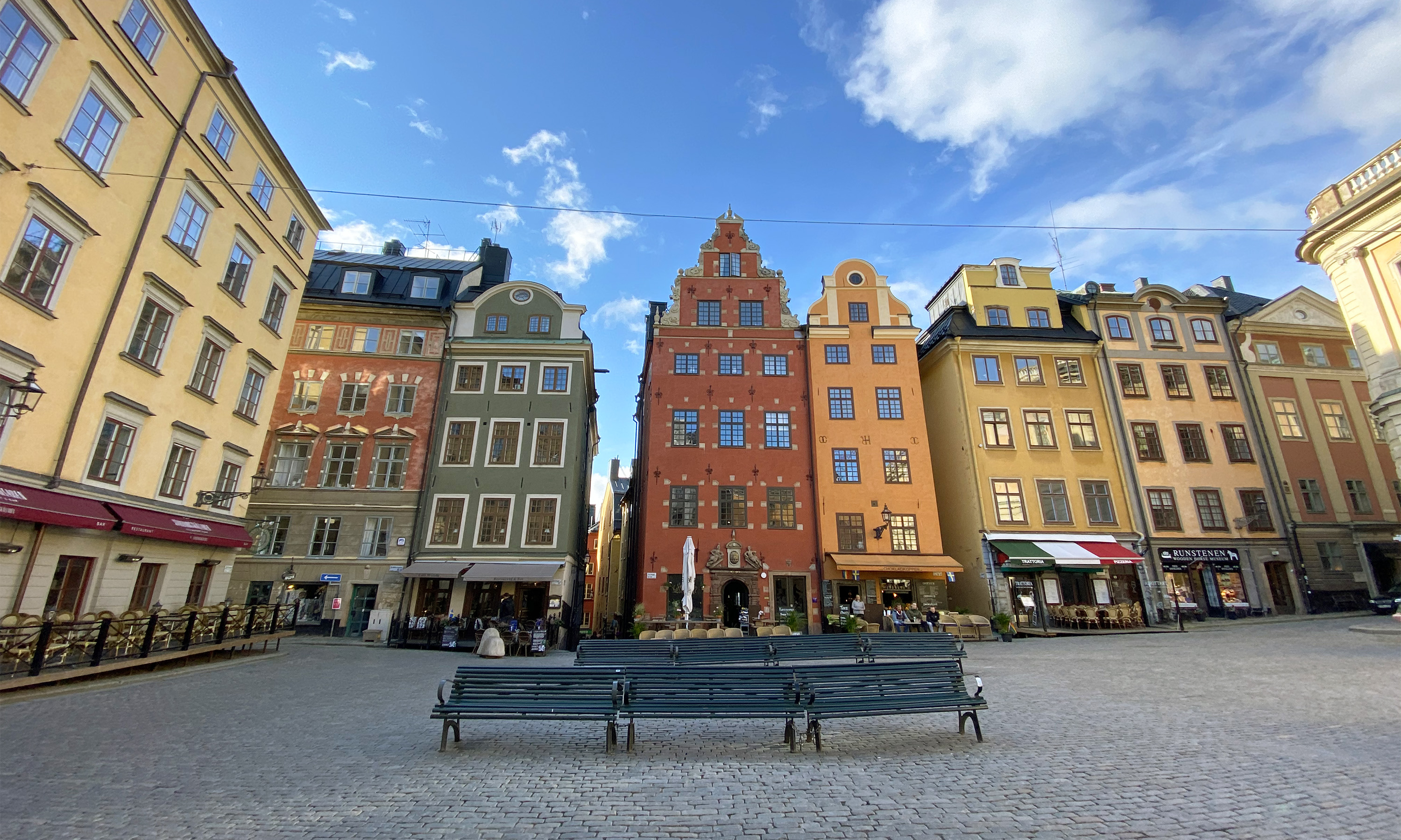 The Old Town known as Gamla Stan in Stockholm
