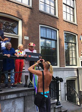 Liberdade de expressão na Parada Gay de Amsterdã