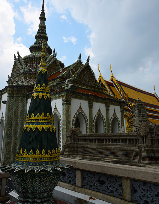 The temples of the Grand Palace in Bangkok Thailand