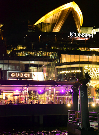 O grande shopping center Iconsiam em Bangkok