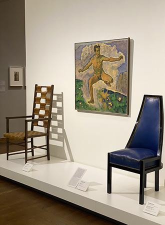 Objeto de arte designer Koloman Moser no Museu Leopoldo em Viena