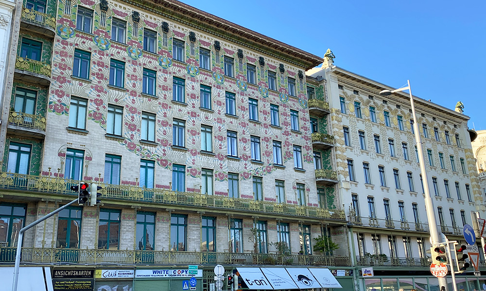 Façade of the Majolikahaus designed by Otto Wagner