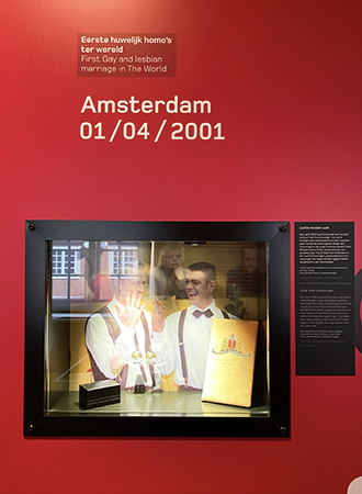 The first gay marriage in the Netherlands