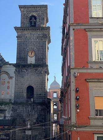 Arquitetura na cidade de Nápoles Italia