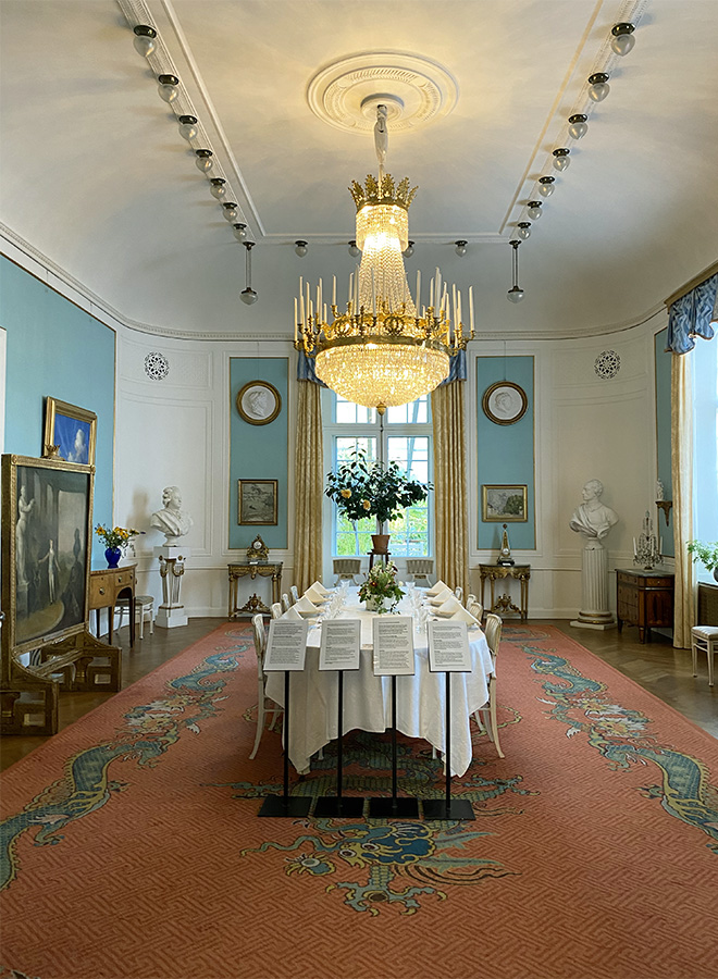 Dining room at the Prins Eugens Waldermarsudde museum in Stockholm