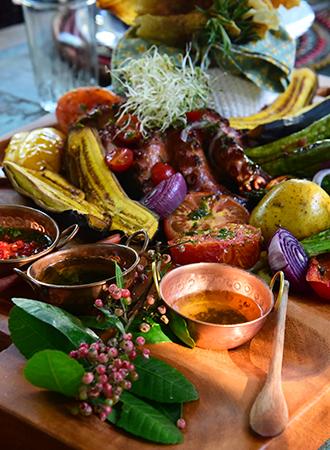 Culinária do restaurante Preta na Ilha dos Frades em Salvador