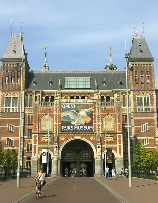 Façade of the Rijksmuseum in Amsterdam