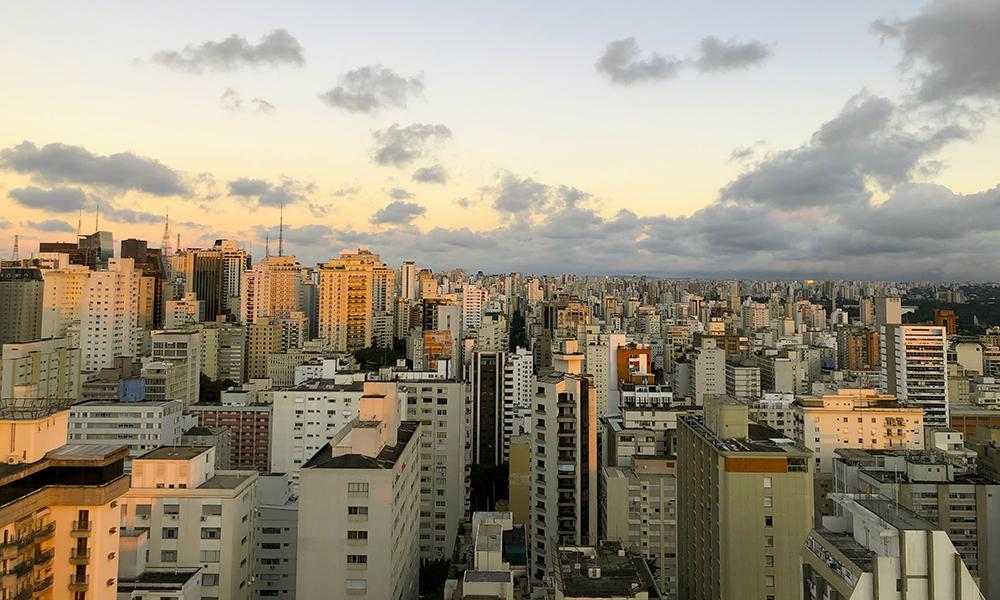 A cidade de São Paulo vista de cima