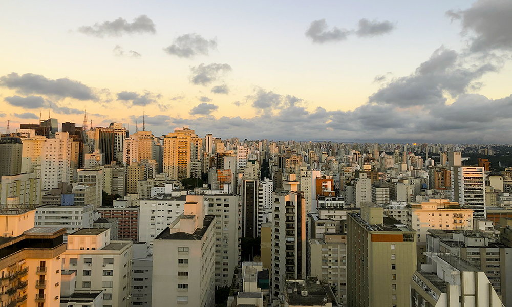 São Paulo skyline in Brazil
