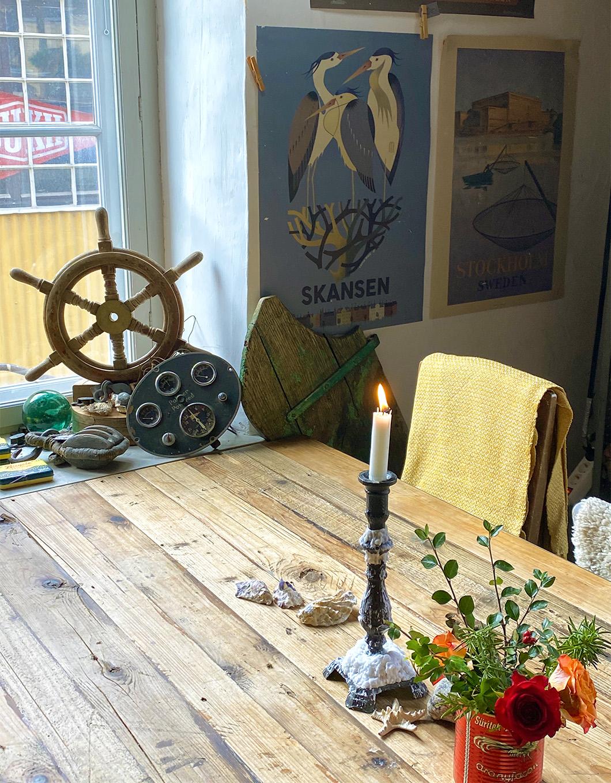 Decor details at the Skroten Cafe Skeppshandel in Stockholm