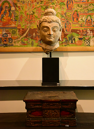Buddha Head at Astamangala Gallery in Amsterdam