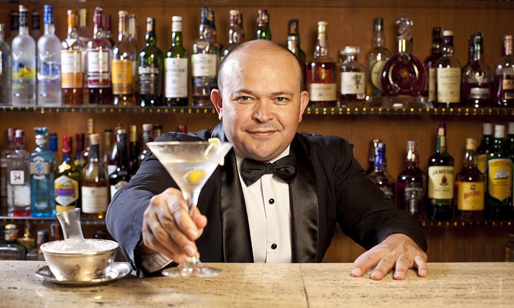 The Brazilian bartender, Walter Bolinha, at the Fasano Hotel in Sao Paulo