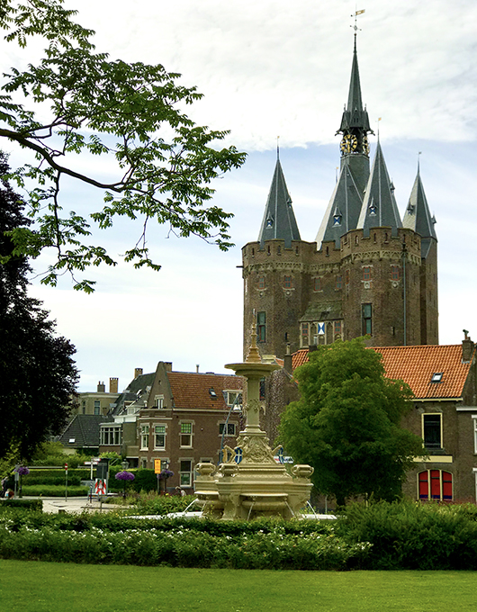 Medieval architecture in the Dutch city Zwolle